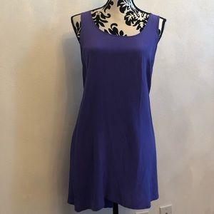 Tops - Purple long top/mini dress with ruffle back